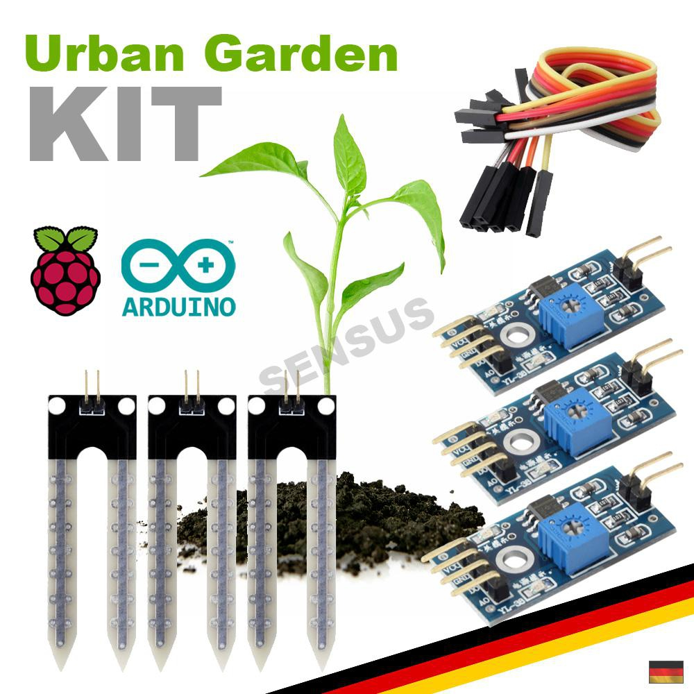 starter kit hygrometer sensor set pflanzen blumen giessen arduino raspberry pi ebay. Black Bedroom Furniture Sets. Home Design Ideas